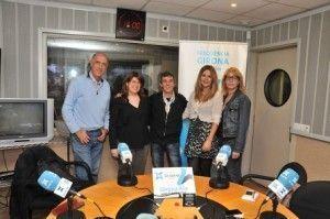 Sandra Llinares a Girona Ara de La Xarxa Radio, amb Miquel Duran, Eduard Cid, Anna Carbonell