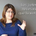 Los 3 elementos necesarios para que tu web venda