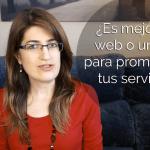 ¿Es mejor una web o un blog para promocionar tus servicios?