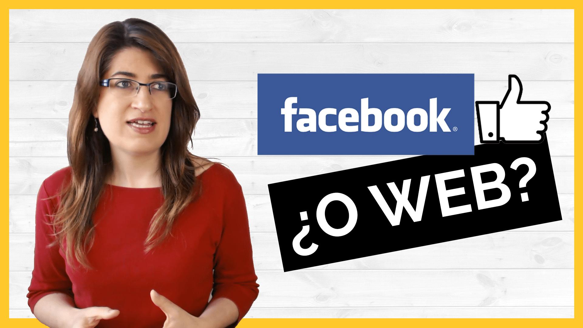 Facebook o página web