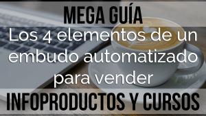 Los 4 elementos de un embudo automatizado para vender infoproductos y cursos
