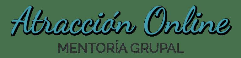 Logo Mentoría Grupal Atracción Online azul gris